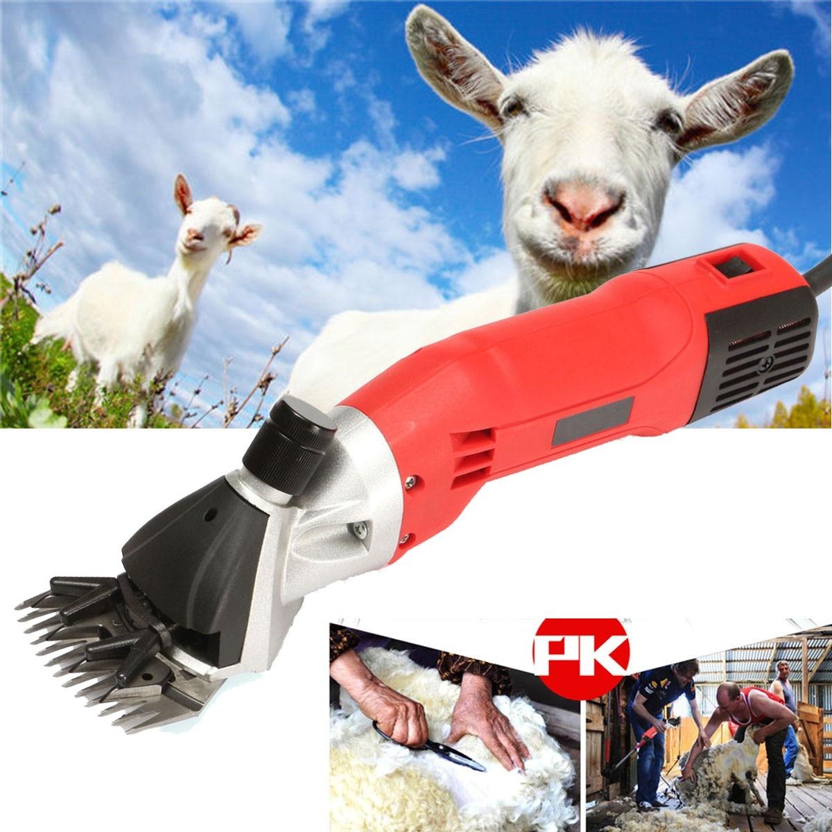 500W 220V AC Electric Sheep Goats Shearing Clipper Shear Alpaca Farm Shears Tool Aluminum Power Scissors hot selling 1pcs lot new 350w electric sheep goats shearing clipper shears electric wool shear