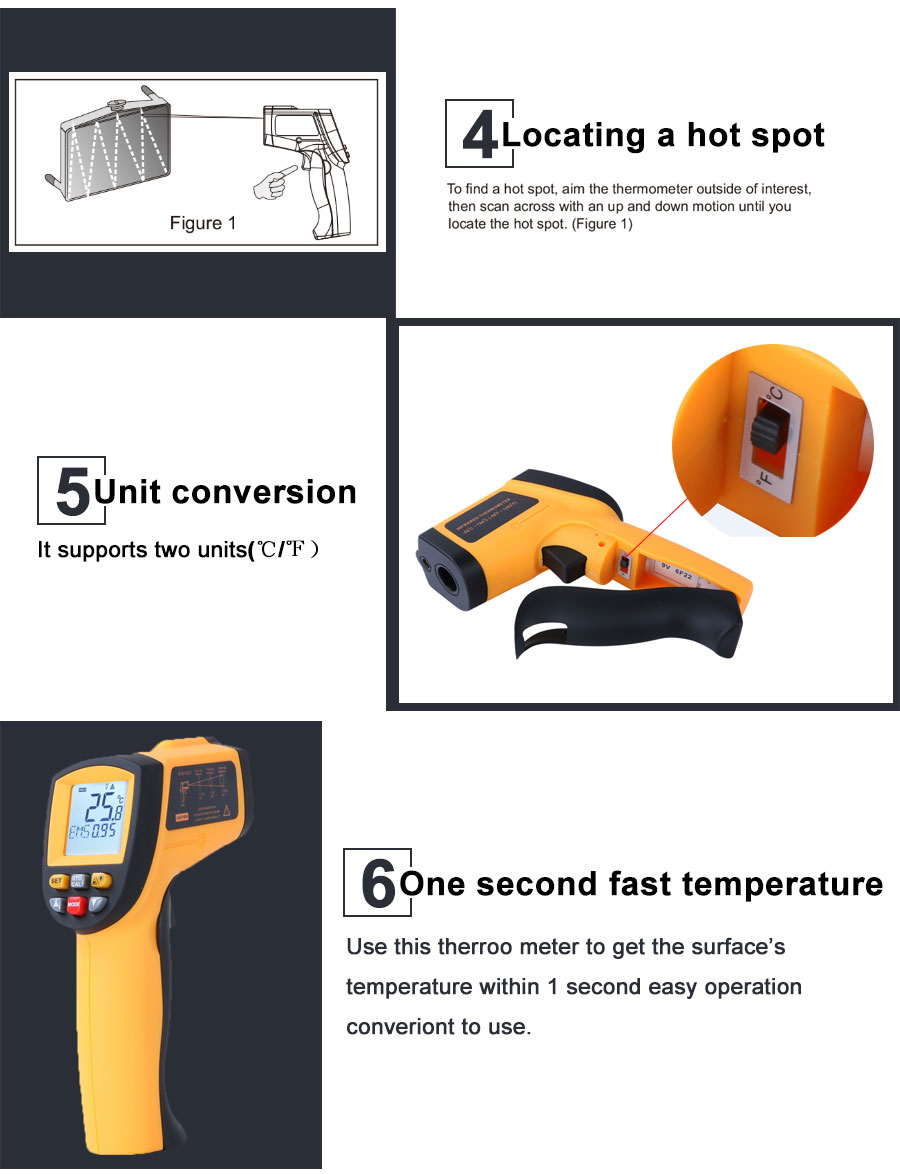 HTB12gd4XvvsK1Rjy0Fiq6zwtXXaC RZ IR Infrared Thermometer Thermal Imager Handheld Digital Electronic Outdoor Non-Contact Laser Pyrometer Point Gun Thermometer