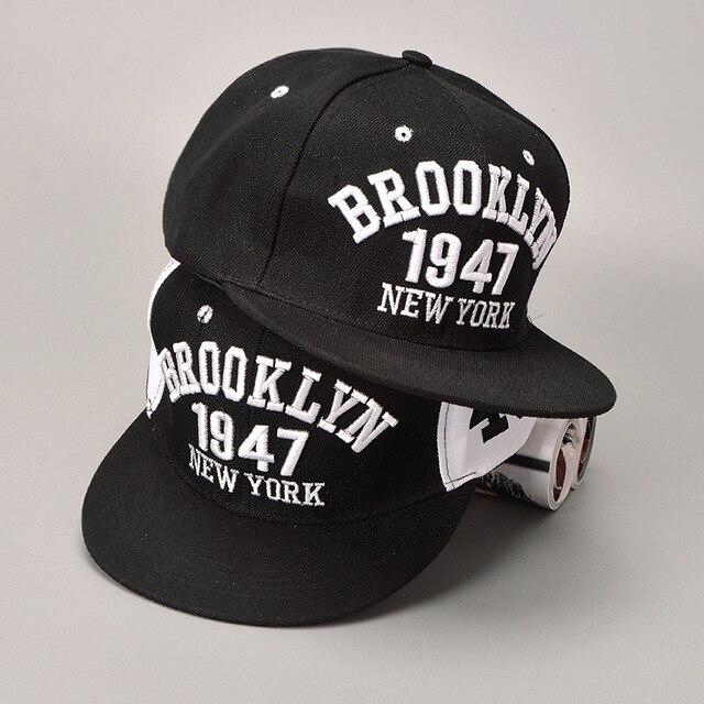 1947 eventos Brooklyn estilo gorra de béisbol deporte sombrero Gorras  Planas Snapback Nueva York Hip Hop 05e3cf42534