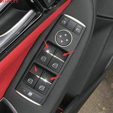 BJMYCYY car styling ABS 7PCS/SET Car window lift buttons decorate sequins For Benz GLE 320 400 C ML accessories