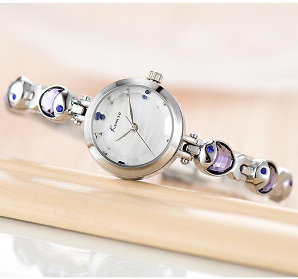 KIMIO Water Fish Gem Crystal Rose Gouden Armband Horloge Dames Luxe - Dameshorloges - Foto 2