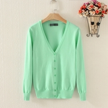 2016 autumn and winter new arrival colors women sweater plus size v neck knitted cardigan 3XL
