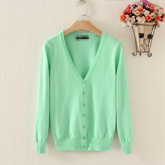 2016 cores camisola das mulheres de outono e inverno nova chegada plus size decote em v malha cardigan 3XL
