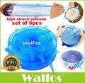 WALFOS alimentos envoltório de saran-tigela pote tampa tampa de Silicone universal-trecho de silício tampe a panela de silicone tampas de Cozinha A Vácuo Selador tampa