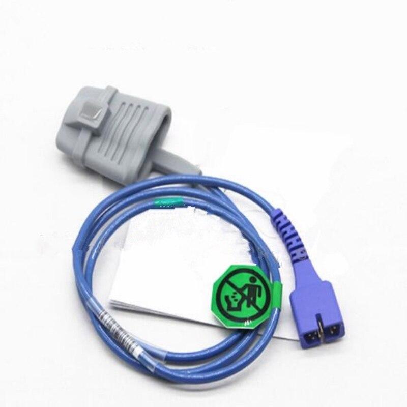 Free Shipping Compatible For Nellcor DB7 Pin Adult Silicone Spo2 Sensor ,Pulse Oximeter Sensor,Oxygen Probe 1m/3ft TPU