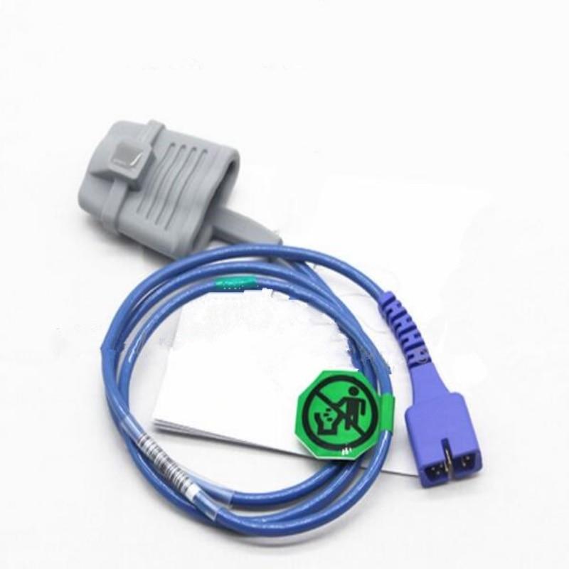 Gratis Verzending Compatibel Voor Nellcor DB7 Pin Volwassen Siliconen Spo2 Sensor, Pulsoxymeter Sensor, Zuurstof Sonde 1 M/3ft TPU