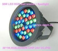 Waterproof Good Quality High Power 36W LED RGB Wash Light RGB Wall Washer 36 1W 24V