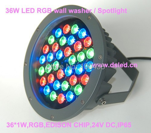Waterproof,good quality,high power 36W LED RGB wash light, RGB wall washer,36*1W,24V DC,DMX compitable,4-wire conectionDS-TN-13, dc 24 v 36w rgb led wall washer light full color 1200 70 71mm