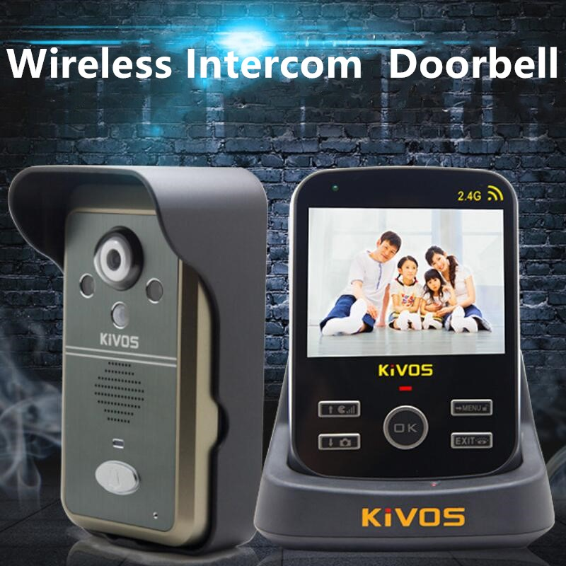 KiVOS Беспроводной видеодомофон Smart видеодомофон Камера для частного дома Store дистанционного Управление видео-глаз домофон