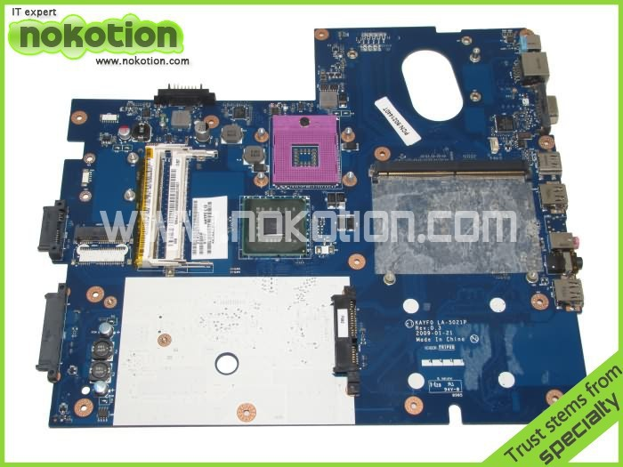 Фото NOKOTION KAYF0 MBKAYF08989 LA-5021P laptop Motherboard for Gateway NV78 LJ65 LJ67 intel DDR3 MB.KAYF08.989 Mainboard. Купить в РФ