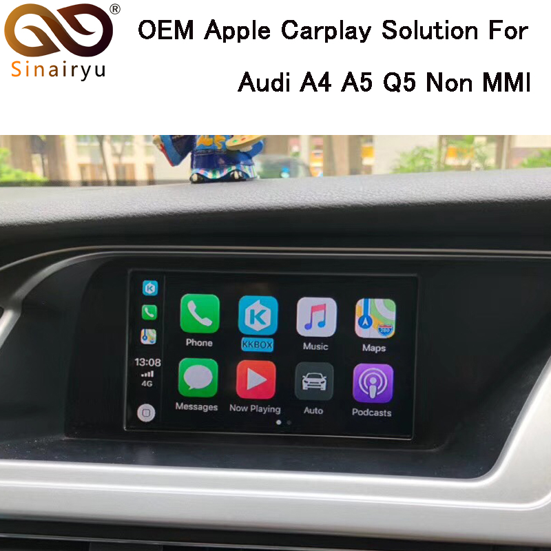 Sinairyu CarPlay Interface Aftermarket OEM Apple Carplay IOS Airplay D'adaptation de Mise À Niveau A4 A5 Q5 S5 Non MMI pour Audi
