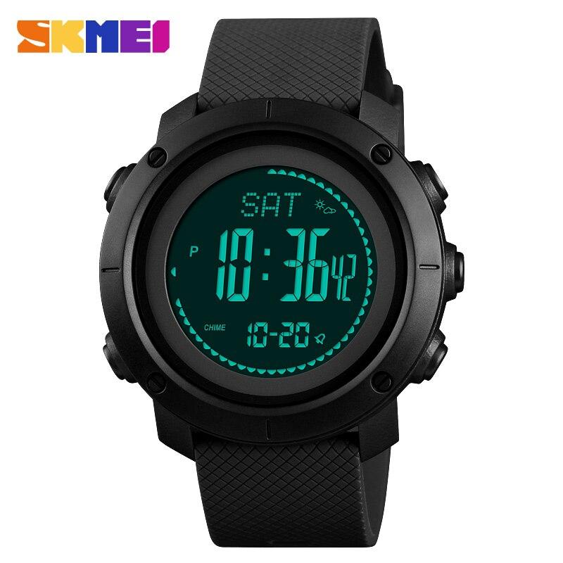 SKMEI Mode Sport Horloges Mannen Vrouwen Outdoor Elektronische Stappenteller Druk Kompas Alarm Horloge Relogio Masculino 1427-in Digitale Klokken van Horloges op  Groep 1