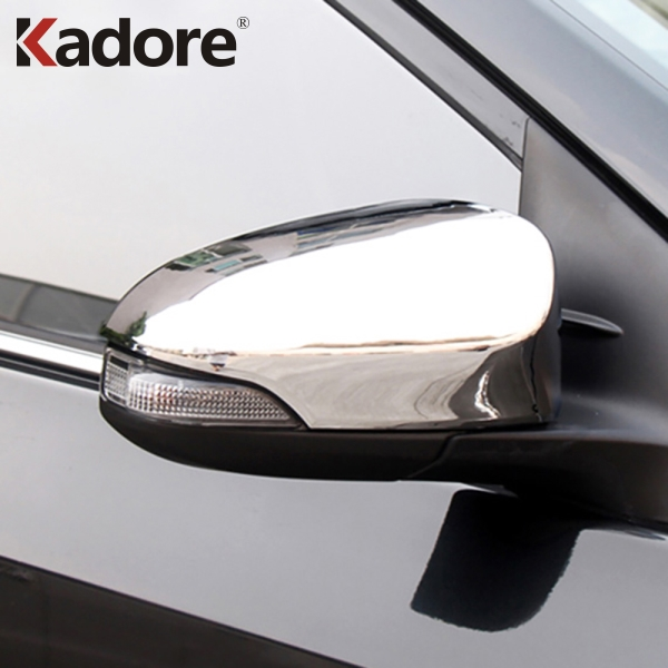 Carbon Fiber Style Rear View Mirror Cover Caps For Toyota CHR C-HR 2016-2018
