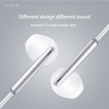 Earphones In-ear Mobile Phone Computer Universal Hifi Music Headset Sport Gaming Earphone Bass Earbuds With Microphone Silver T3 huawei wire sport headsets in ear earphone with earbuds super bass headset for mobile phone computer gaming business honor am175