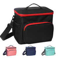 Portable  Picnic Cool Bag Refrigerated Insulated Bag Lunch Bag for Camping Shopping Gym Travel Student Lunch Box Women and Men|Picnic Bags| |  -