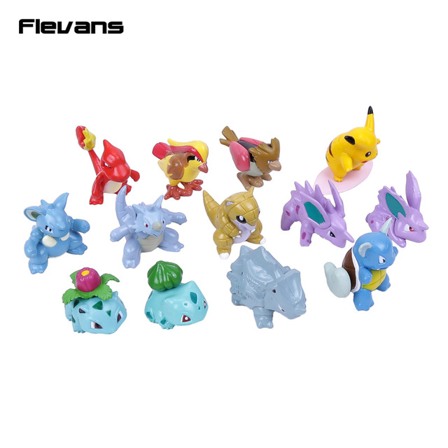 Monstro Ir 13 pçs/set Pikachu Charmander Bulbasaur Pidgey Nidoran PVC Figuras Brinquedos