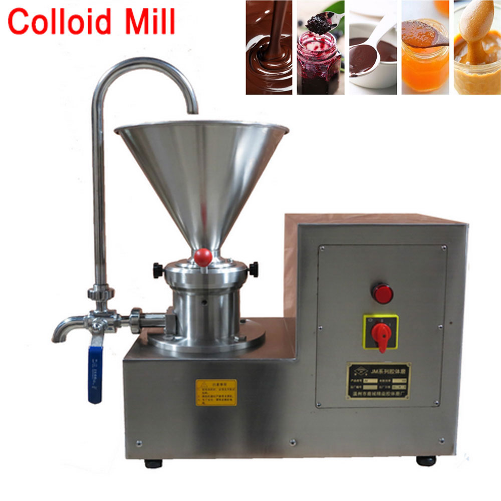 2200W Big Capacity Jam Chili Peanut Butter Machine Wet/Dry Peanut Sesame Sauce Grinding Machine Stainless Vertical Colloid Mill food pharmaceutical industry stainless steel seeds peanut butter sesame paste chilli sauce colloid milling machine