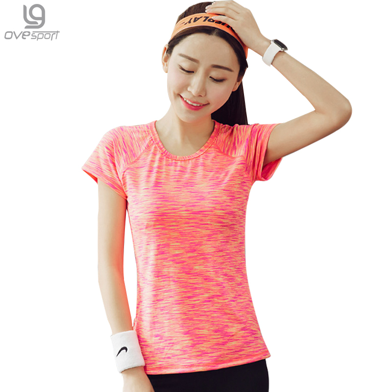 2017 New Women T-Shirts Summer Short Sleeve Quick Dry O-Neck Fitness Casual  Tees Ladies T Shirts Solid Color 29fc85f222991