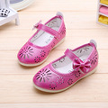 40% 1pair Spirng baby girl's kid's girl  princess PU shoes single fashion Breathable Fretwork shoes 3colors 21-25