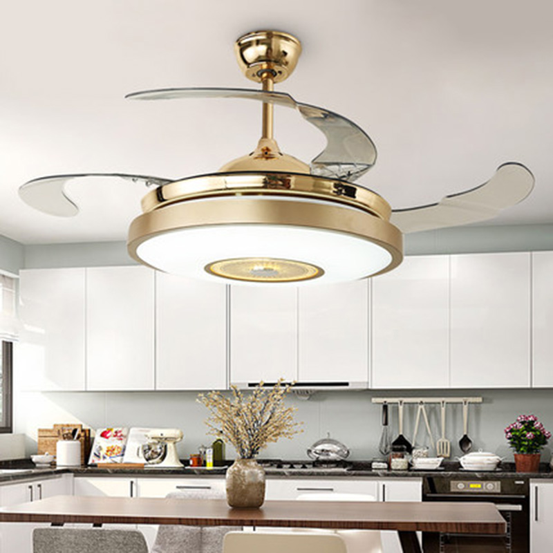 Ceiling Lights & Fans Modern Simple Colors Ceiling Fan Lamp Macaron Kids Room Living Room Led Iron Art Fan Lamp Colorful Fan Leaves Deco Pendant Lamp Ceiling Fans