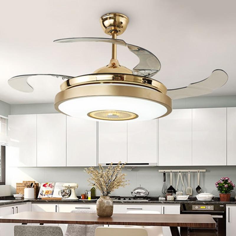 Art Deco Led Ceiling Fans Light Trendy Rgb Color Changing