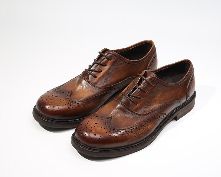 Carved brogue dress shoes men lace up vintage smart casual height increasing shoes genuine soft leather brogue classical black 2 36 inches taller height increasing elevator shoes black blue red casual leather shoes soft sole soft surface driving shoes