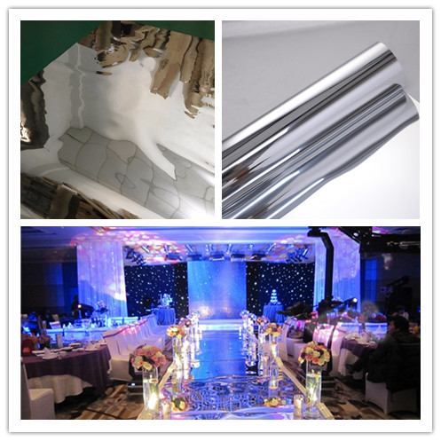 1.5M Width Silver Wedding Mirror Carpet,T Stage Carpet Runner Wedding Party Stage Marriage Decoration 20M ,0.13mm thickness,