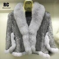 [Rancyword] роскошь норки шаль для Для женщин пончо Кейп вязанное из натуральной Меховая куртка пальто Женская зимняя обувь обертывания верхняя
