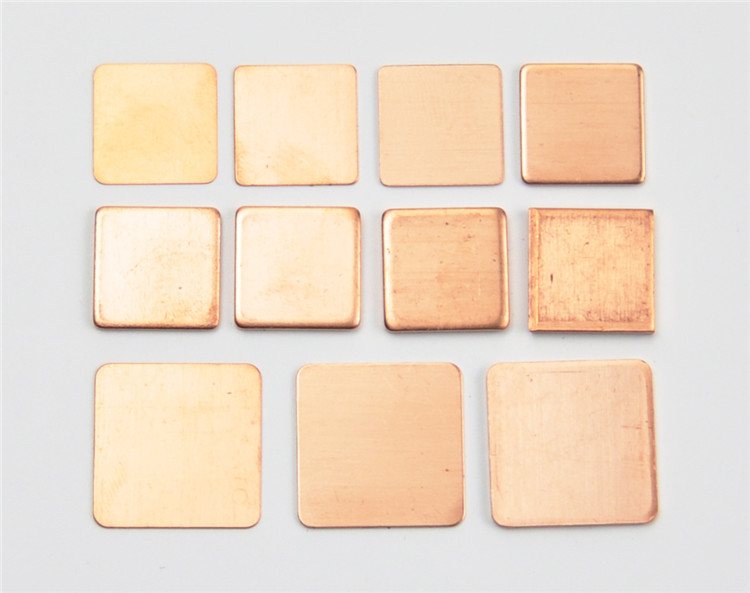 10 Pieces Pure Copper Heatsink Shim 7