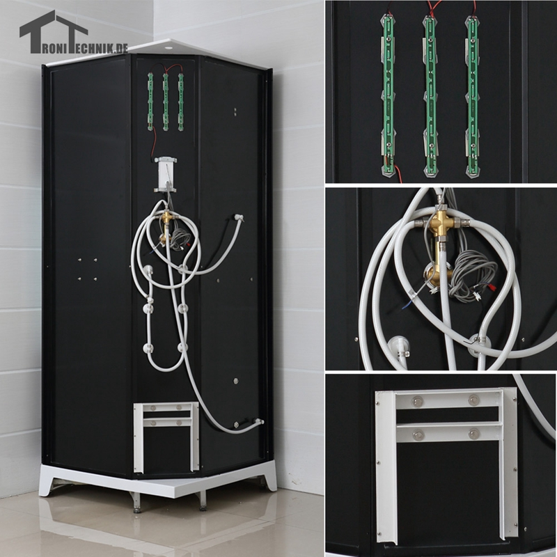 90cm NO Steam Black shower cabin bath douche cabine Shower Cubicle ...