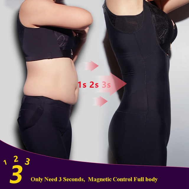 High Quality Women Waist Magnetic Control Stomach body shaper Push Up Bras shapewear Thinning bodysuits Thigh Compression Belly