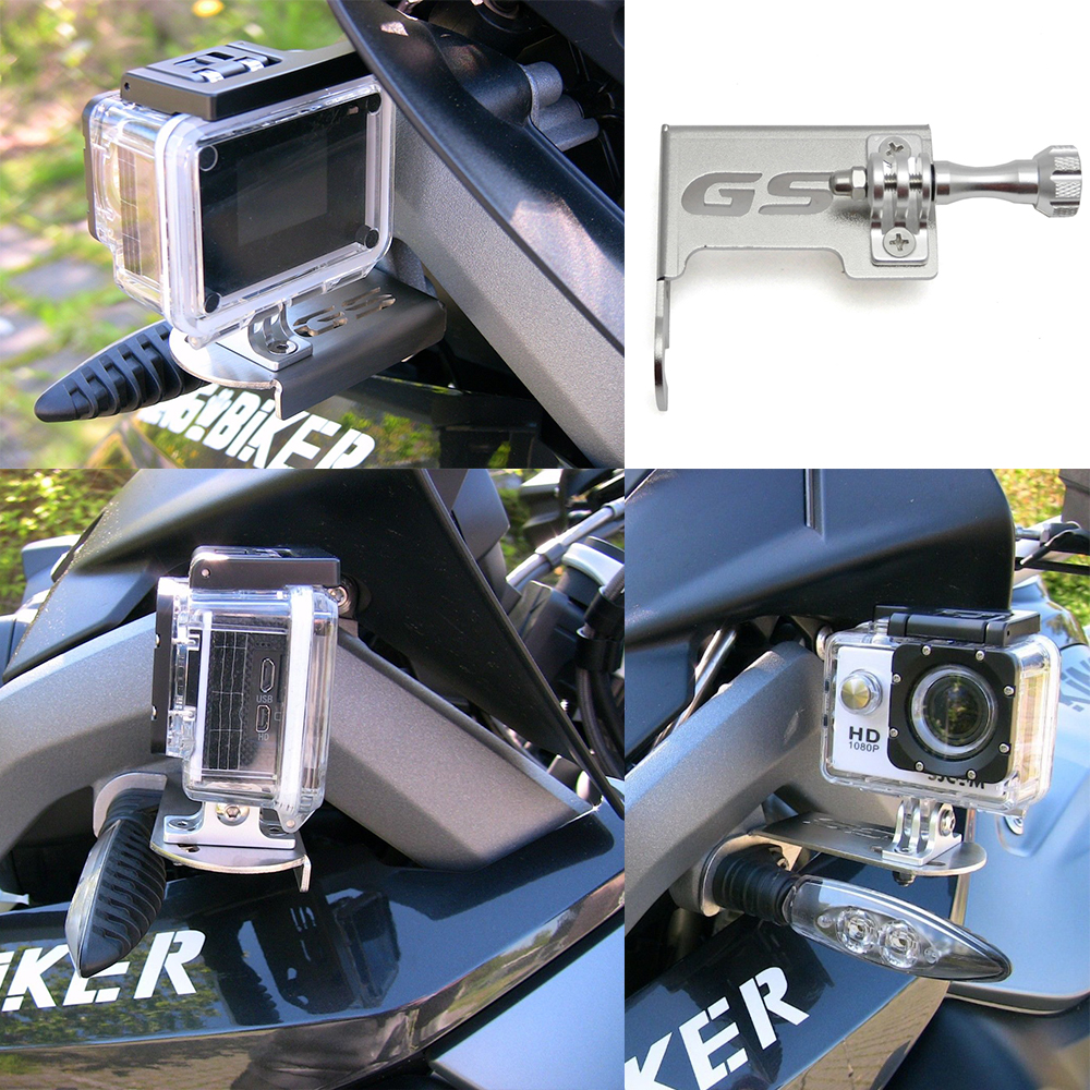 цена KEMiMOTO For BMW R1200GS LC GS 1200 Adventure R 1200 GS R 1200GS LC ADV Front Left Bracket For Go Pro Dash Cam