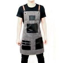 Высокое качество барбершоп рабочие фартуки модные бытовые фартуки для ресторана кухни противообрастающие фартуки Регулируемая Рабочая одежда