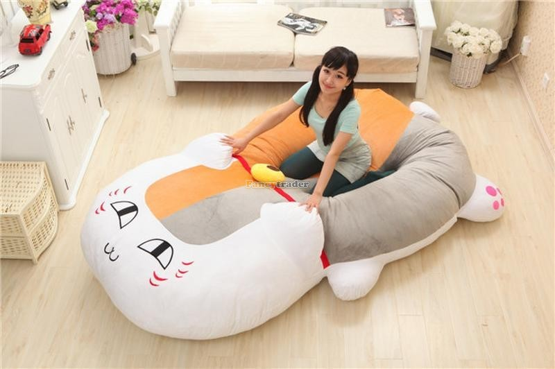 Fancytrader 210cm X 150cm Huge Giant Cute Cat Tatami Bed Carpet Sofa, Gift For Girls, Free Shipping FT90287 (9)