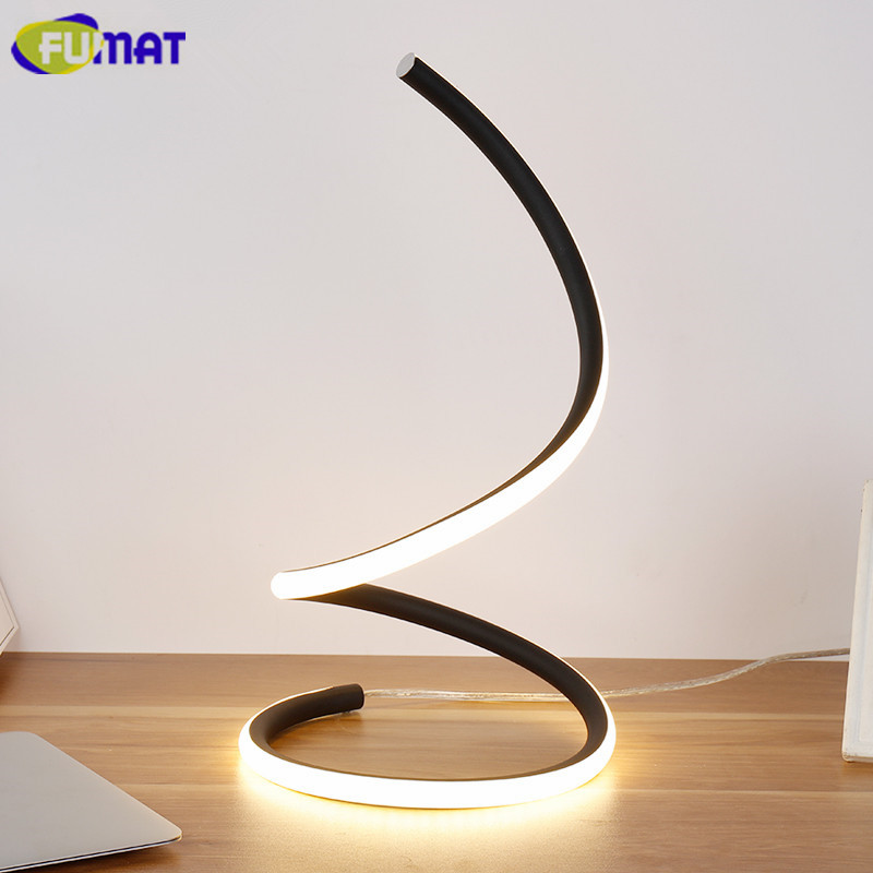FUMAT Modern LED Table Lamp Simple Bedroom Bedside Table Lamps Light Art Creative Fashion Desk Lamp For Living Room Study fumat stained glass table lamp high quality goddess lamp art collect creative home docor table lamp living room light fixtures