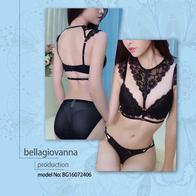 Seamless Cotton Underwear Women Floral Sexy Lace Bra
