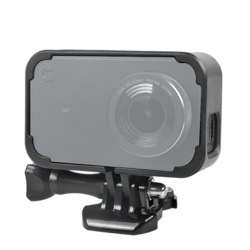 For Xiaomi Mijia 4K Mini Action Camera Frame Mount Base Screw Protective Hard Case For Mijia Mini Camera Accessories