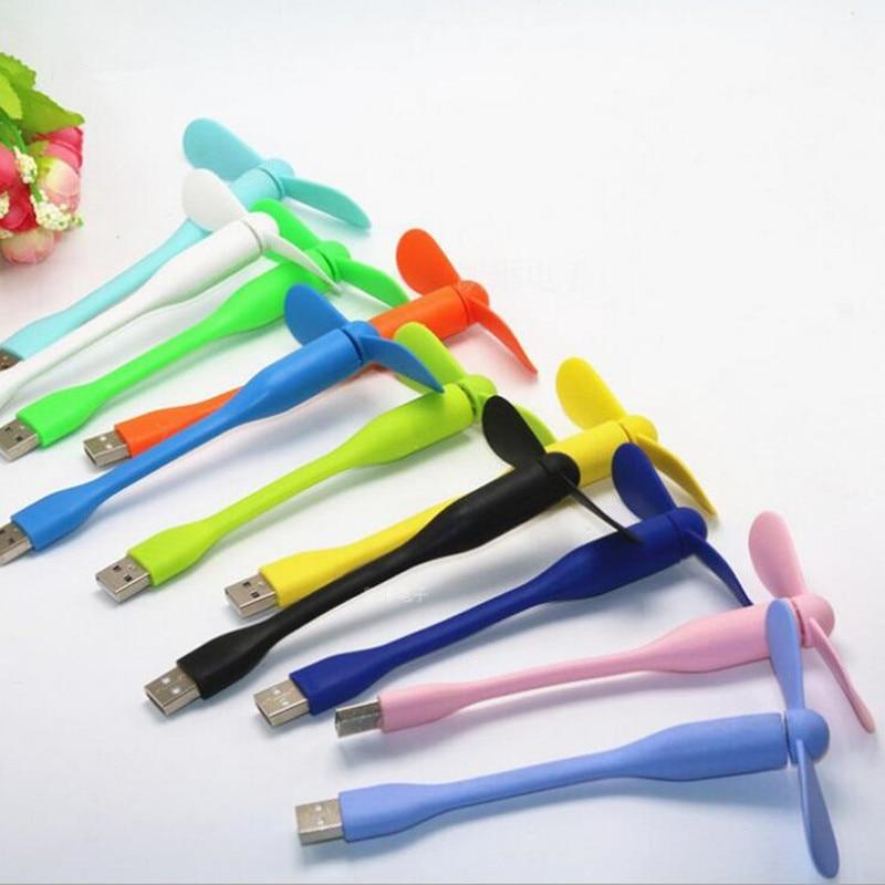 Portable Flexible USB Cooler Mini Cooling Fan Cute Colorful Cooler For Laptop Desktop Computer