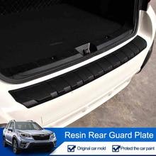 QHCP Resina Tronco Tagliare Lamiera di Protezione Paraurti Posteriore Protector Coda Strisce di Copertura Per Subaru Forester XV Outback 2013-2019 car Styling