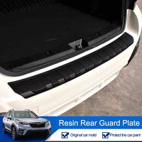 QHCP Resin Trunk Trim Guard Plate Rear Bumper Protector Tail Strips Cover For Subaru Forester XV Outback 2013 2019 Car Styling