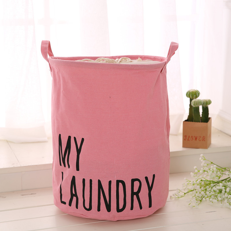 Image 3 - Colorful Organizer Cotton Linen Waterproof Home Storage Bag Fabric Hamper Debris Box Laundry Storage Basket 2019 Hot Sale-in Foldable Storage Bags from Home & Garden