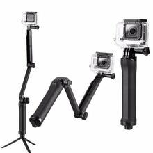 for Go professional selfie stick Monopod Three in 1 Three-way Mount Tripod Monopod for GoPro HERO 1 2 Three Three+ four SJ4000 Xiaomi Yi Digicam Equipment
