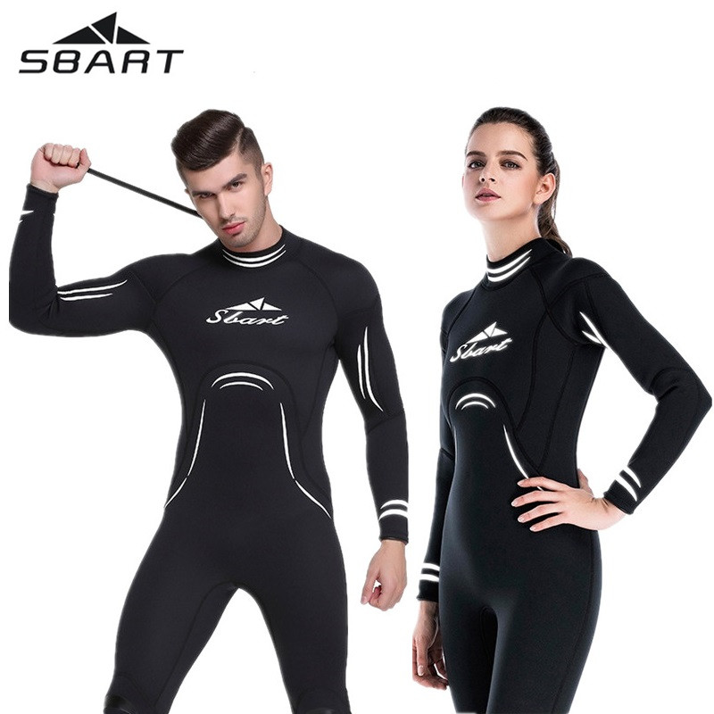 3MM Long Sleeve Lovers Men Women Scuba Diving Wetsuit Full Body Back Zip Neoprene Bodysuit Surf Dive Swim Snorkeling Diving Suit women s wetsuit 3mm premium neoprene diving suit full length snorkeling wetsuits full body