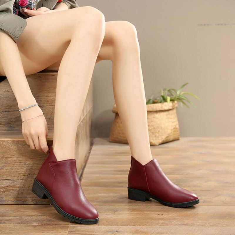 Femmes Boots Hiver Zxryxgs Bottes Taille Boots Casual Cheville 2019 gray wine Confort Nouveau Boots Red wine black Boot Marque Automne Black Winter Single Chaussures Neige Mode Chaleureux Boot Plus zvwq5xgrz