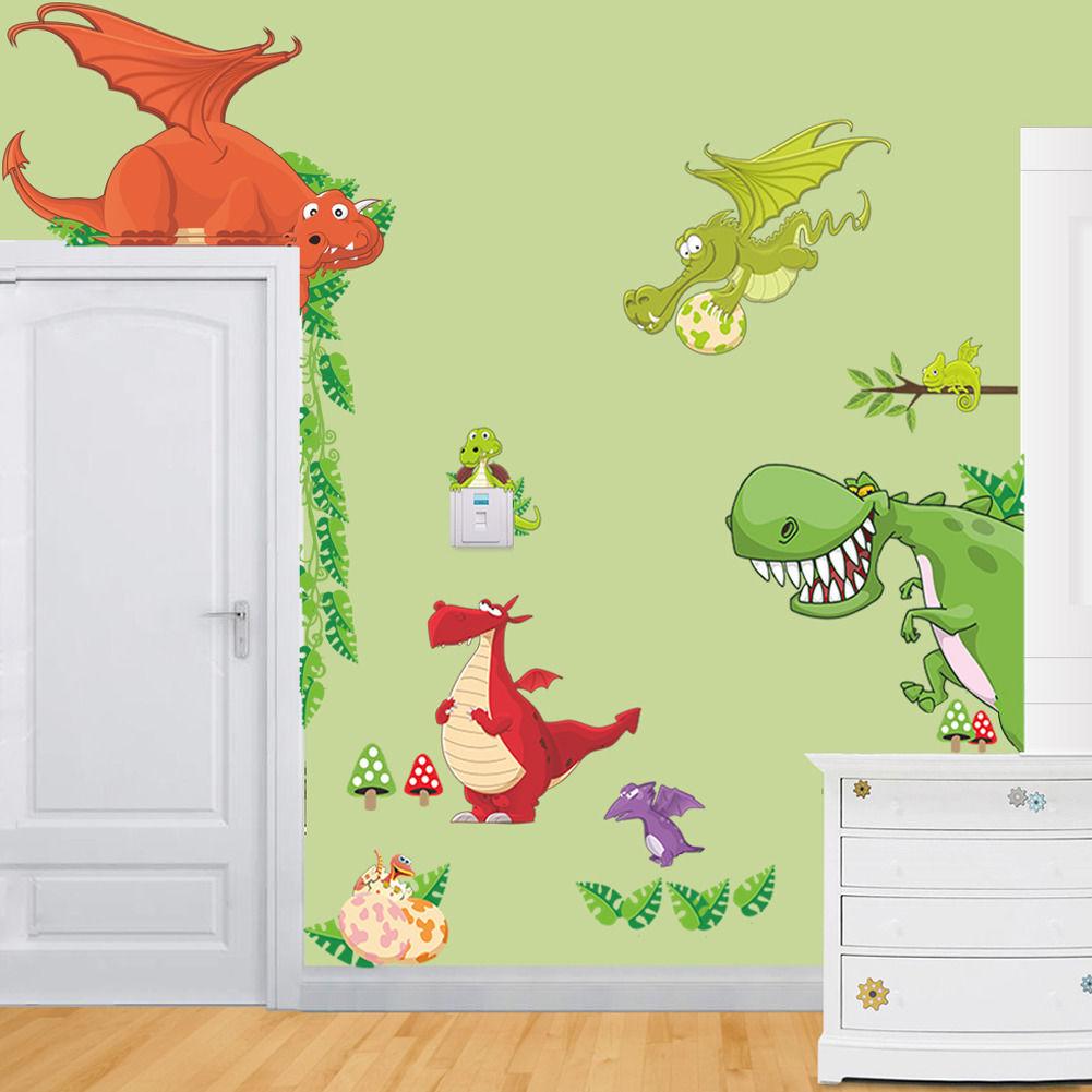 2016 new arrival Animals Dinosaur Dragon Vinyl Wall Sticker Decals ...