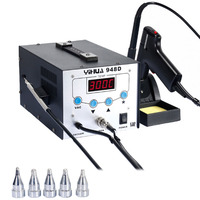 YIHUA948D Iron Soldering Station High Frequency Suction Gun With Pen 3 in 1 BGA Rework Station