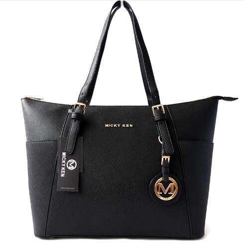 MICKY KEN Fashion hot brand designer handbag PU leather high quality letter female bag designer bolsos mujer sac a main totes in Top Handle Bags from Luggage Bags