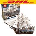 LEPIN 22001 Barco Pirata Kits Modelo de Bloques de Construcción de buques de guerra Imperial Briks divertidos Juguetes para niños de Regalo 1717 unids Compatible 10210