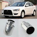 Brand New High Grade T304 Stainless Steel Exhaust Muffler Tip Tail Pipe For Mitsubishi Lancer EX