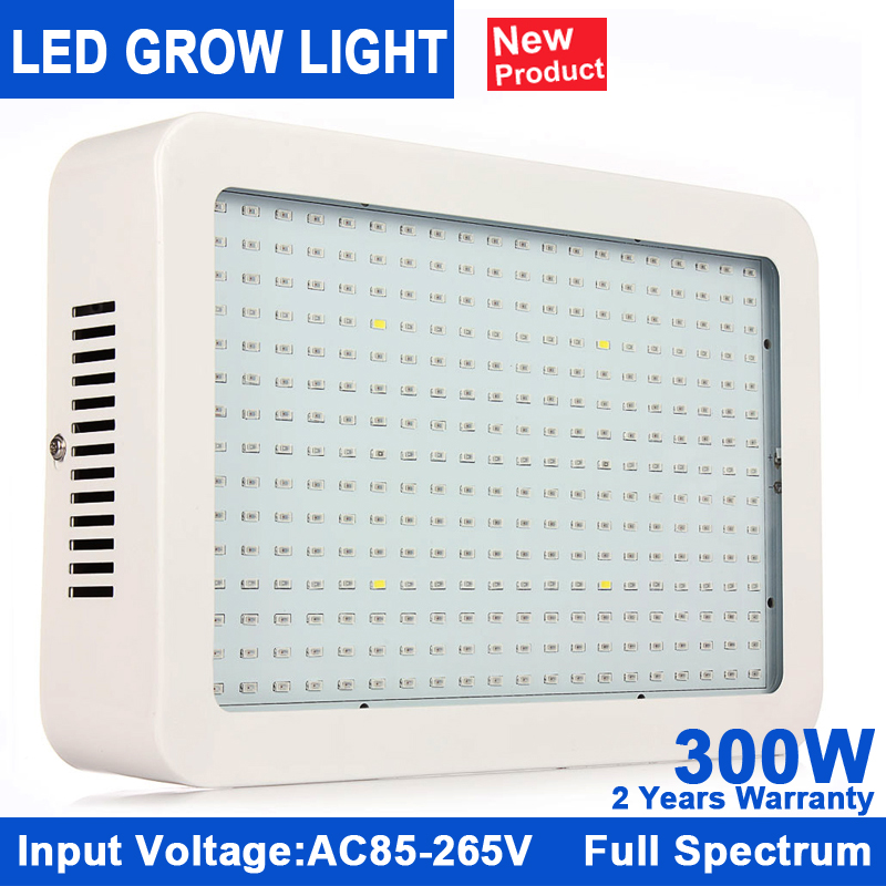 KINDOMLED Full Spectrum 300W LED Grow Light Red/Blue/White/UV/IR AC85~265V SMD5730 Led Plant Lamp Best For Growing and Flowering full spectrum 600w led grow light double chips red blue white uv ir ac85 265v led plant lamps best for growing and flowering